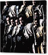 Multiple Johnny Cash's In Trench Coat 1 Collage Old Tucson Arizona 1971-2008 Canvas Print