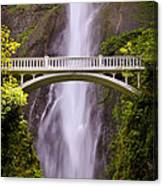 Multnomah Falls Silk Canvas Print