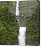 Multnomah Falls Up The Gorge Canvas Print