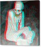 Mummy Dearest - Use Red-cyan Filtered 3d Glasses Canvas Print