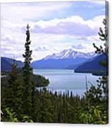 Muncho Lake View Canvas Print