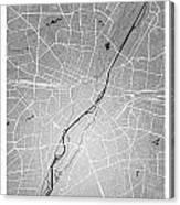 Munich Street Map - Munich Germany Road Map Art On Colored Backg Canvas Print