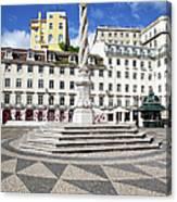 Municipal Square In Lisbon Canvas Print