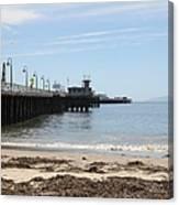 Municipal Wharf At The Santa Cruz Beach Boardwalk California 5d23766 Canvas Print