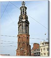 Munttoren In Amsterdam Canvas Print