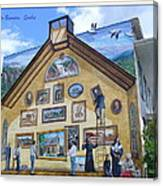 Mural In Beaupre Quebec Canvas Print