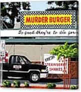Murder Burger Canvas Print