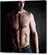 Muscular Handsome Man  Canvas Print
