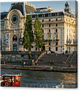 Musee D'orsay Along River Seine Canvas Print