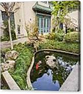 Museum Koi - Courtyard Of The Pacific Asia Museum In Pasadena. Canvas Print