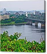 Museum Of Civilization Across The Ottawa River In Gatineau-qc Canvas Print