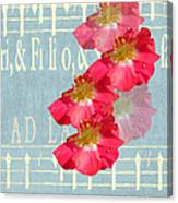 Music And Roses Canvas Print