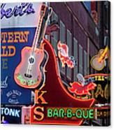 Music Clubs Nashville Canvas Print