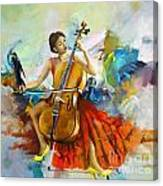 Music Colors And Beauty Canvas Print