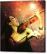 Music Explodes In The Night Canvas Print