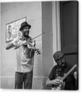 Music In The French Quarter Canvas Print