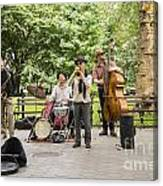 Music In The Park Canvas Print