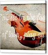 Music Lover Card Canvas Print