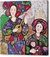 Music to motherhood Canvas Print