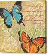 Musical Butterflies 1 Canvas Print