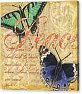 Musical Butterflies 2 Canvas Print