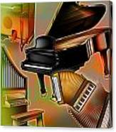Musical Instruments With Keyboards Canvas Print