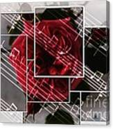 Musical Rose Montage Canvas Print