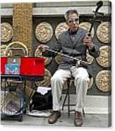 Musician In Chinatown In San Francisco Canvas Print
