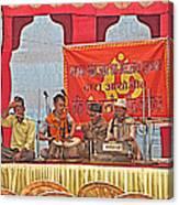 Musicians At Hindu Festival Of Ram Nawami In Kathmandu-nepal Canvas Print
