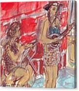 Musicians Busking  Canvas Print