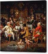 Musicians Of The Old School Canvas Print