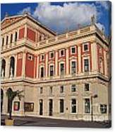 Musikverein Gesellschaft Der Musikfreunde Building Vienna Austria Canvas Print