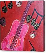 Musique Rouge Canvas Print