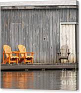 Muskoka Chairs Canvas Print