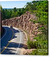 Muskoka Drive Through Canvas Print