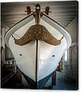 Mustache Boat Canvas Print