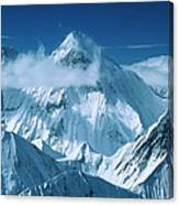 Mustagh Tower At Center And Masherbrum Canvas Print