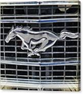 Mustang Emblem Canvas Print