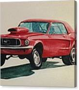 Mustang Launch Canvas Print