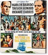 Mutiny On The Bounty, Us Poster Art Canvas Print