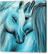 Mutual Companions- Fine Art Horse Artwork Canvas Print
