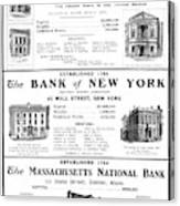 Mutual Funds, 1901 Canvas Print