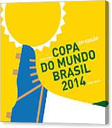 My 2014 World Cup Soccer Brazil - Rio Minimal Poster Canvas Print