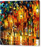 My Best Friend - Palette Knife Oil Painting On Canvas By Leonid Afremov Canvas Print