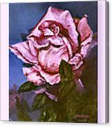 My First Rose Canvas Print