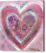 My Glittering Heart Canvas Print