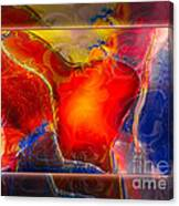 My Heart On My Sleeve An Abstract Painting Canvas Print