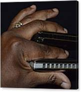 My Afro Blues Harmonica - Double Play Blues Canvas Print