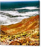 My Impression Of California Coastline Canvas Print