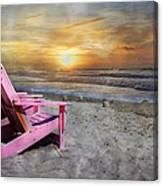 My Life As A Beach Chair Canvas Print